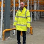 Stephen Basey-Fisher in a new 80,000sqft warehouse